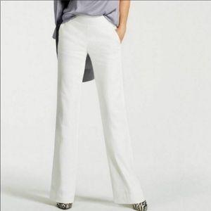 Cabi Angel Trouser HighWaisted White Linen Pants